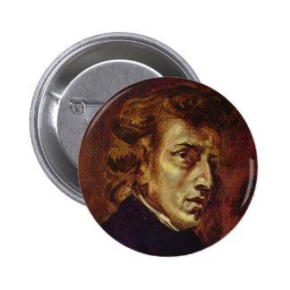 Retrato de Federico Chopin de Eugene Delacroix Pins