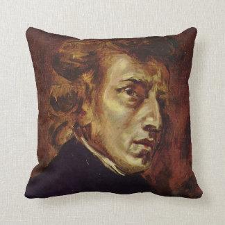 Retrato de Federico Chopin de Eugene Delacroix Cojín