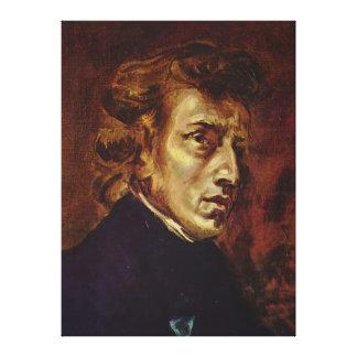 Retrato de Federico Chopin de Eugene Delacroix Lienzo Envuelto Para Galerías