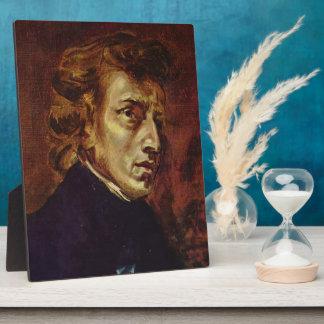 Retrato de Federico Chopin de Eugene Delacroix Placa