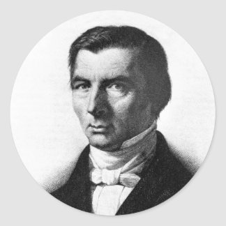 Retrato de Federico liberal clásico Bastiat Pegatinas Redondas