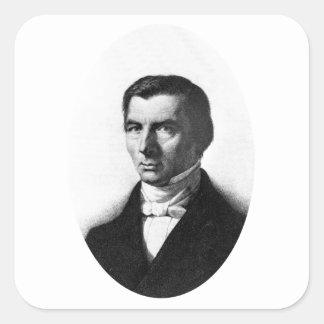 Retrato de Federico liberal clásico Bastiat Calcomanias Cuadradas