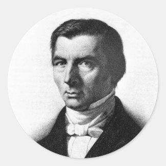 Retrato de Federico liberal clásico Bastiat Etiqueta Redonda