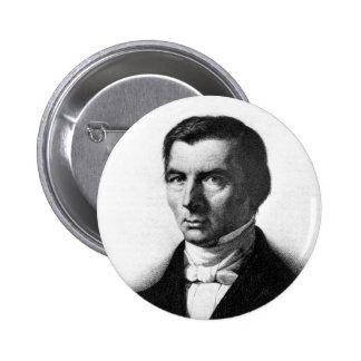 Retrato de Federico liberal clásico Bastiat Pin Redondo De 2 Pulgadas