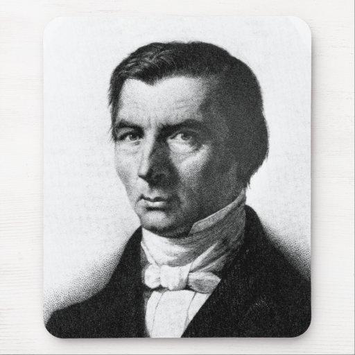 Retrato de Federico liberal clásico Bastiat Alfombrillas De Ratón