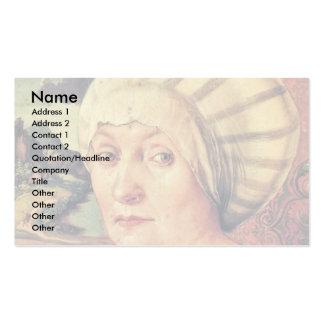 Retrato de Felicitas Tucher de Albrecht Dürer Plantillas De Tarjetas Personales