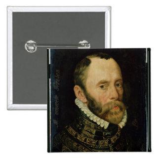 Retrato de Felipe van Montmorency Pin Cuadrado