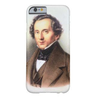 Retrato de Felix Mendelssohn (1809-47) (litho) Funda De iPhone 6 Barely There