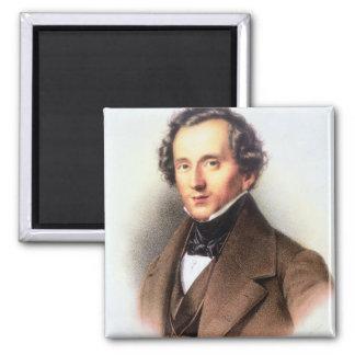 Retrato de Felix Mendelssohn (1809-47) (litho) Imán Cuadrado