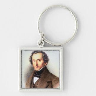 Retrato de Felix Mendelssohn (1809-47) (litho) Llavero
