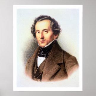 Retrato de Felix Mendelssohn (1809-47) (litho) Impresiones
