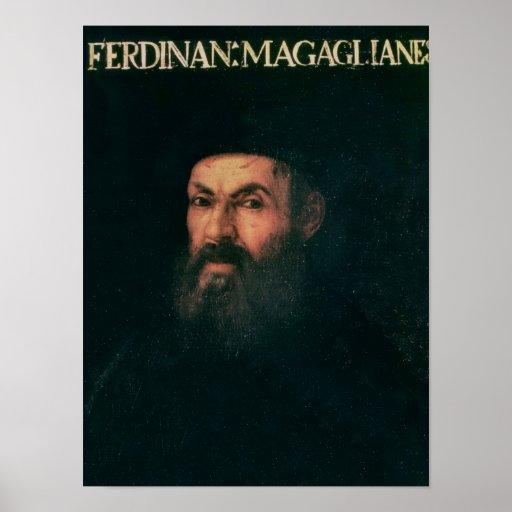 Retrato de Fernando de Magallanes Poster
