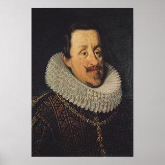 Retrato de Fernando II de Habsburgo 1622-37 Posters