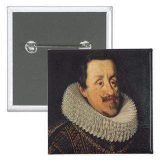 Retrato de Fernando II de Habsburgo, 1622-37 Pin Cuadrado
