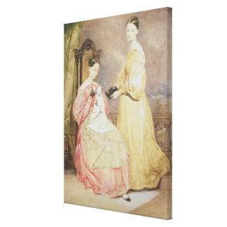 Retrato de Florence Nightingale y de ella Lona Envuelta Para Galerías