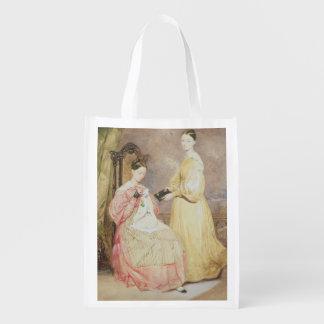 Retrato de Florence Nightingale y de ella Bolsa Reutilizable