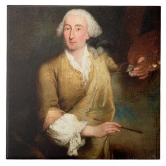 Retrato de Francesco Guardi (1712-93) (el aceite e Azulejos Ceramicos