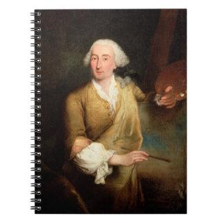 Retrato de Francesco Guardi (1712-93) (el aceite e Cuadernos