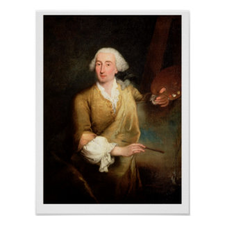 Retrato de Francesco Guardi (1712-93) (el aceite e Posters