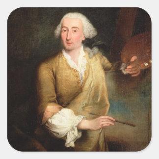 Retrato de Francesco Guardi (1712-93) (el aceite e Colcomanias Cuadradases