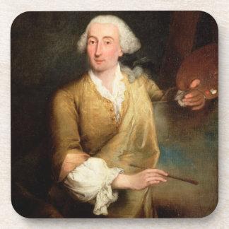 Retrato de Francesco Guardi (1712-93) (el aceite e Posavasos De Bebida
