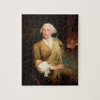 Retrato de Francesco Guardi (1712-93) (el aceite e Rompecabeza