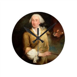 Retrato de Francesco Guardi (1712-93) (el aceite e Reloj