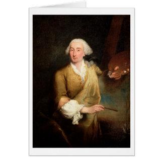 Retrato de Francesco Guardi (1712-93) (el aceite e Felicitaciones