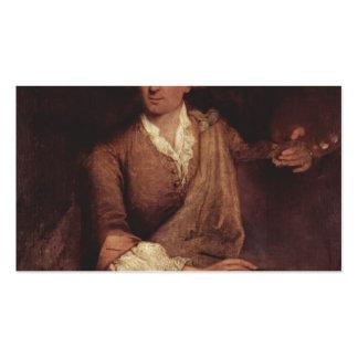 Retrato de Francesco Guardi de Pietro Longhi Tarjeta Personal