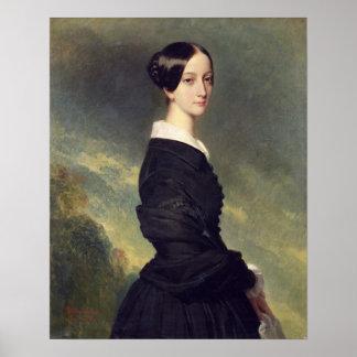 Retrato de Francisca Caroline de Braganca 1844 Póster