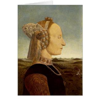 Retrato de Francisca del della de Piero de Battist Tarjetón