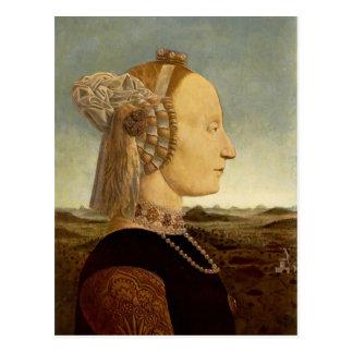 Retrato de Francisca del della de Piero de Battist Postales