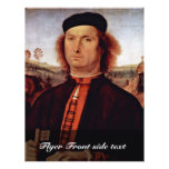 Retrato de Francisco Delle Opere de Perugino Piet Folleto 21,6 X 28 Cm