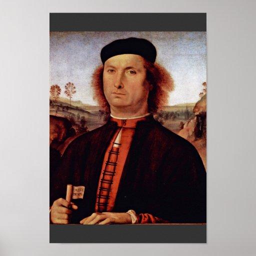 Retrato de Francisco Delle Opere de Perugino Piet Póster