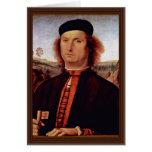 Retrato de Francisco Delle Opere de Perugino Piet Tarjeta De Felicitación