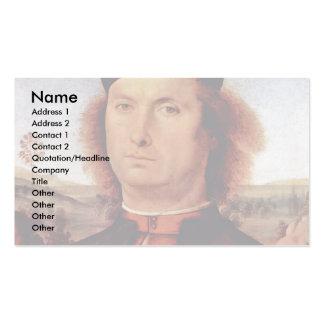 Retrato de Francisco Delle Opere de Perugino Piet Plantillas De Tarjetas De Visita