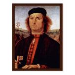 Retrato de Francisco Delle Opere de Perugino Piet Postal