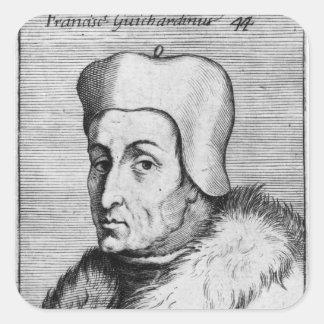 Retrato de Francisco Guicciardini Pegatina Cuadrada