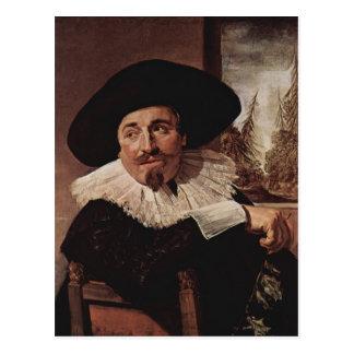 Retrato de Francisco Hals- de Isaak Abrahamsz Mass Tarjeta Postal