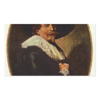 Retrato de Francisco Hals- de un hombre Tarjeta De Visita