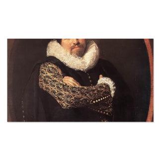 Retrato de Francisco Hals- de un hombre Plantilla De Tarjeta De Negocio