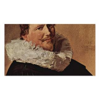 Retrato de Francisco Hals- de un hombre Plantilla De Tarjeta Personal