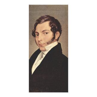 Retrato de Francisco Hayez- de Conte Ninni Lona Publicitaria
