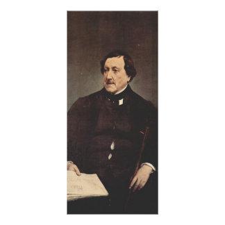 Retrato de Francisco Hayez- de Gioacchino Rossini Tarjeta Publicitaria
