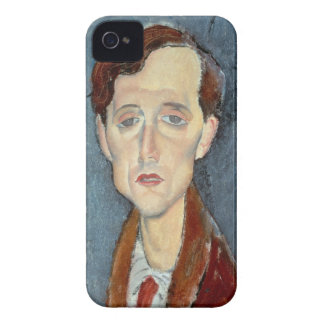 Retrato de Francisco Hellens 1919 aceite en lona iPhone 4 Cobertura
