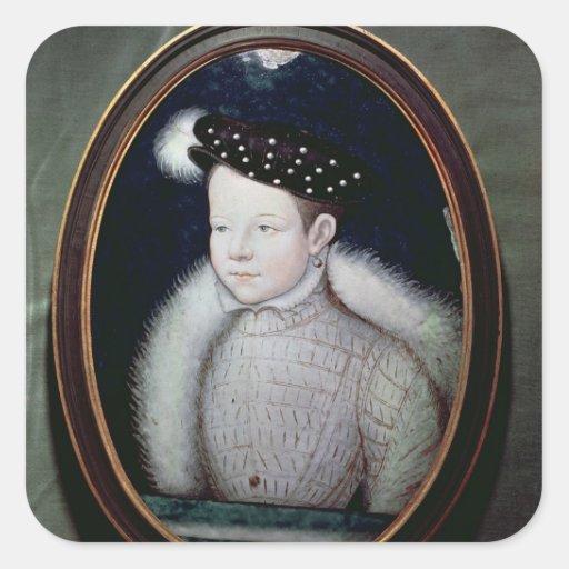 Retrato de Francisco II como delfín de Francia Pegatina Cuadrada