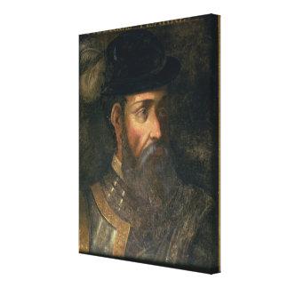 Retrato de Francisco Pizarro (c.1478-1541) Spanis Impresión En Lienzo