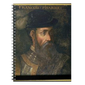 Retrato de Francisco Pizarro (c.1478-1541) Spanis Spiral Notebook