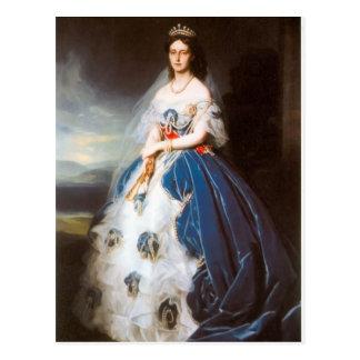 Retrato de Francisco Winterhalter- de la reina Olg Postal