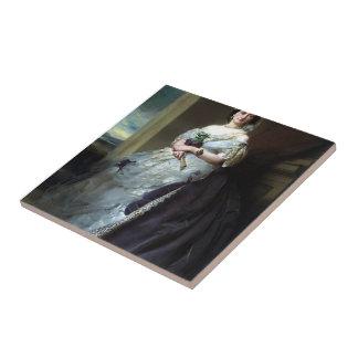 Retrato de Francisco Winterhalter- de señora Middl Azulejo